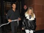 Grávida, Fergie janta com Josh Duhamel em Londres