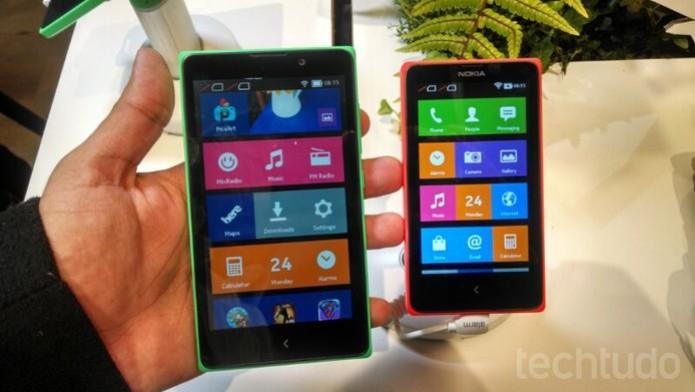 Linha Nokia X, com Android, contará com teclado Swiftkey completo e gratuito (Foto: Allan Melo/TechTudo) (Foto: Linha Nokia X, com Android, contará com teclado Swiftkey completo e gratuito (Foto: Allan Melo/TechTudo))