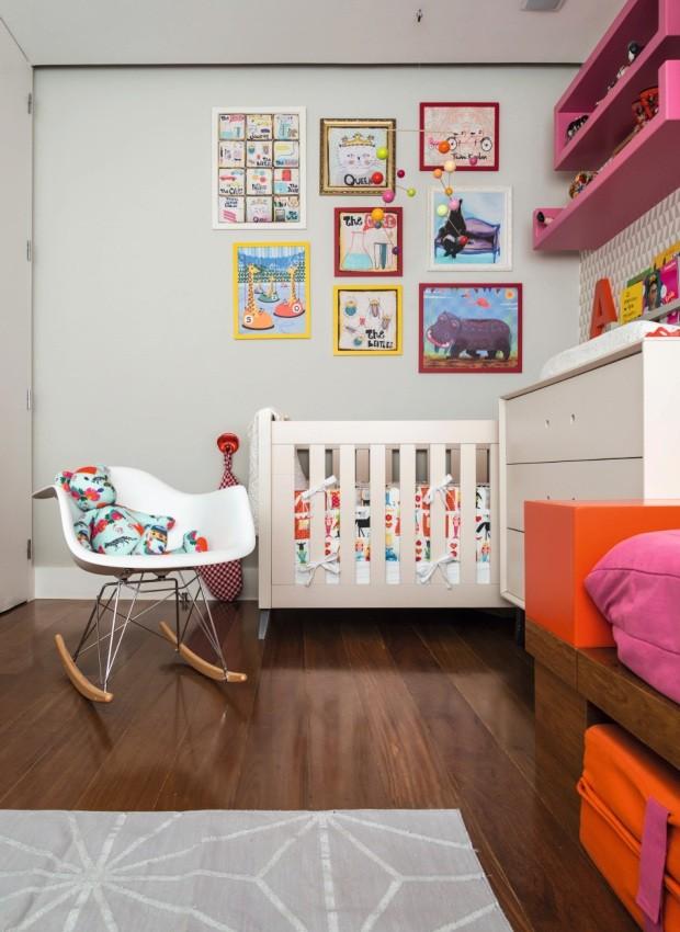 Berço. Foi mantido, assim como a cômoda do antigo quarto de Nina (Foto: Sambacine / NaToca Design)