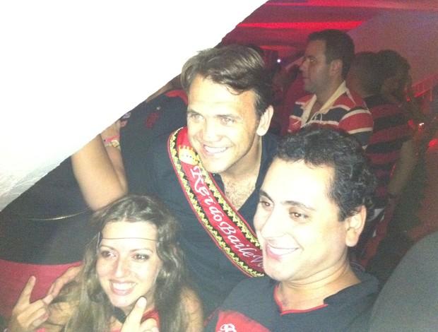 Petkovic no baile Vermelho e Preto (Foto: Vicente Seda / Globoesporte.com)
