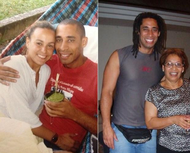 Nei na companhia da namorada e da mãe (Foto: Arquivo pessoal)