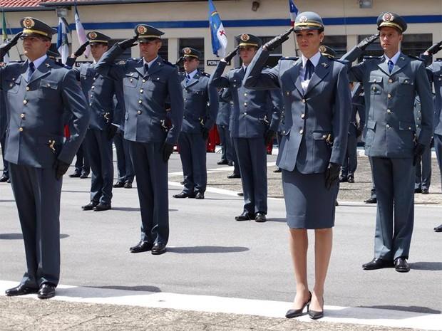 A bela Helena Moraes deixou a carreira de miss para atuar na Polícia Militar do Estado de São Paulo (Foto: Arquivo pessoal)