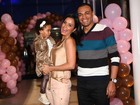 Luciele di Camargo e Denílson fazem festa para comemorar os dois anos da filha, Maria Eduarda