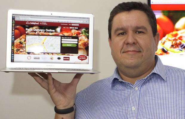 Emerson Calegaretti, presidente-executivo do aplicativo 'HelloFood'