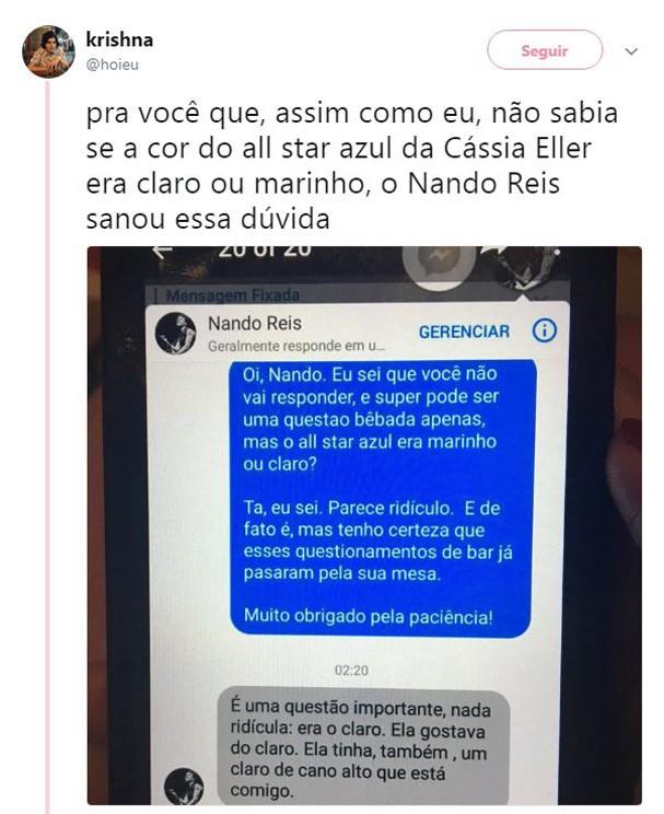 Resposta de Nando Reis (Foto: Reprodução/Instagram)