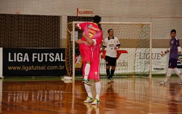 Marlon comemora o primeiro gol do Marechal Rondon no jogo (Foto: Divulgação)