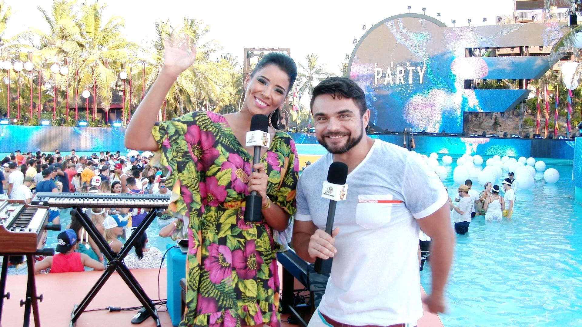 Niara Meireles e Daniel Viana curtiram a festa Pool Party do Aviões. (Foto: Produção / Se Liga VM)