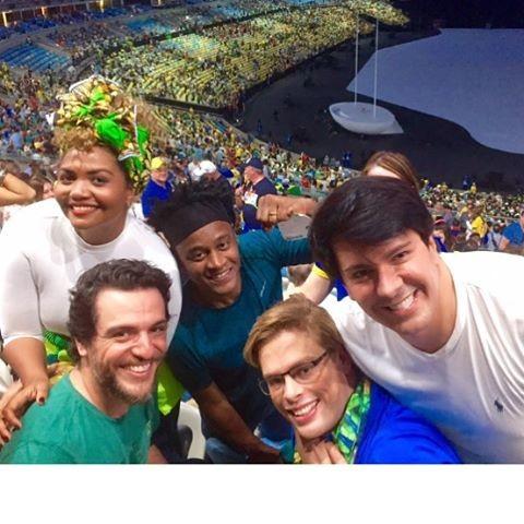 Gaby Amarantos, Rodrigo Lombardi, Bruno Chateaubriand, André Ramos e Toni Garrido (Foto: Reprodução / Instagram)