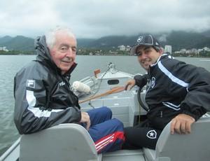 Técnicos de remo Bill Barry e Xoxô  (Foto: Lydia Gismondi / Globoesporte.com)