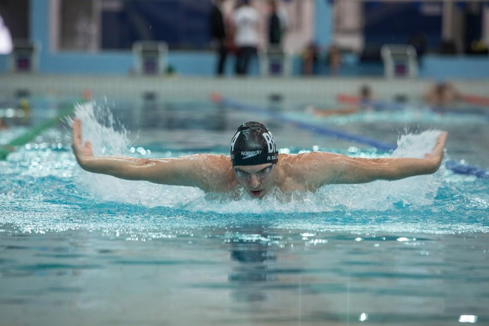 Rodrigo Machado é o único brasileiro a competir em modalidade de natação nos Jogos Mundiais dos Transplantados (Foto: Fabio Tito/G1)