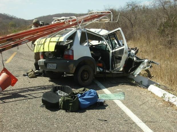 Servidores da Coelce morreram no local, diz polícia (Foto: Orlando Lima/Arquivo Pessoal)
