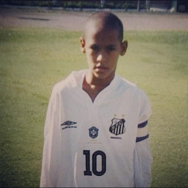 Neymar criança santos (Foto: Reprodução / Instagram)