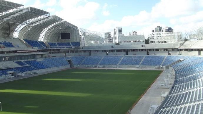 Visão do campo da Arena das Dunas 3 (Foto: Klênyo Galvão)