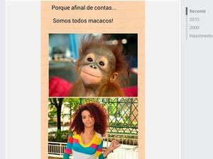 Segundo Débora, a montagem foi publicada no Facebook (Foto: Reprodução)