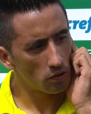 Lucas Barrios Palmeiras coletiva (Foto: Reprodução)