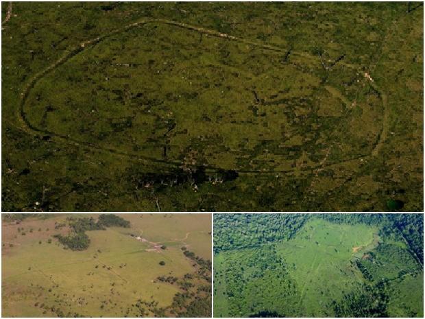 Geoglifos foram encontrados na divisa entre os Estados do Amazonas e do Acre (Foto: Diego Gurgel / Divulgação UFPA)