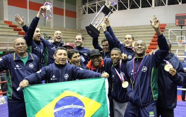 Brasil no ampeonato Continental de Boxe (Foto: Divulgação)
