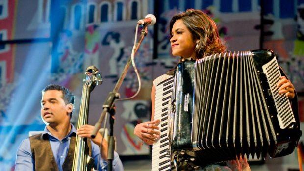 Lucy Ramos fez participação do show na Feira de São Cristóvão (Foto: Divulgação)