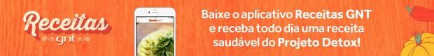 Tarja Aplicativo Receitas GNT (Foto: Divulgao)