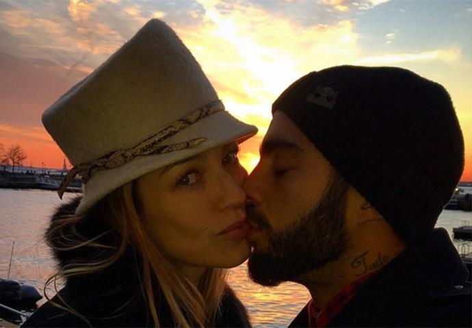 Luana e Pedro posam juntos em viagem depois de reatarem (Foto: Arquivo pessoal)