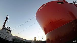 Prelude será usada na exploração de gás natural (Foto: AP)
