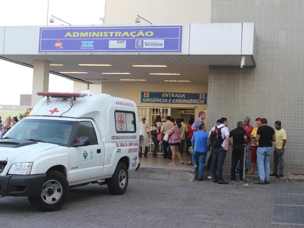 Policial Fred Maia está internado em estado grave no HUT (Foto: Catarina Costa / G1 PI)