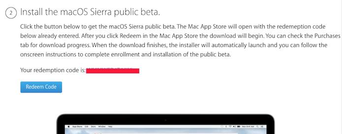 Anotando o código e clicando nela para baixar o macOS Sierra (Foto: Reprodução/Edivaldo Brito)