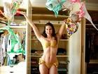 Renata Molinaro abre o guarda-roupa e mostra seus mais de 100 biquínis