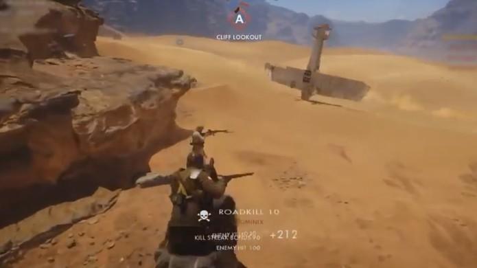 Há mais de uma maneira para usar um avião em Battlefield 1 e transformá-lo em pião é uma delas (Foto: Reprodução/YouTube)