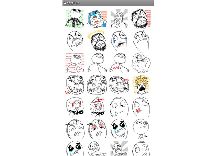 Selecione o emoticon que quer e envie (Foto: Reprodução/Aline Jesus)