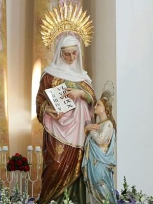 Imagem de Sant´Anna fica na exposta na Catedral da Diocese de Mogi das Cruzes (Foto: Doralice M. F. Santos/Catedral de Sant´Anna)