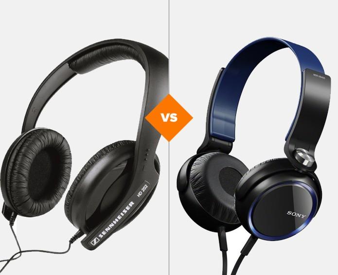comparativo headphone sennheiser x sony (Foto: Arte/Techtudo)