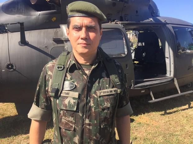General de Brigada Jayme Otávio Queiroz, comandou a Operação Potiguar (Foto: Exército/Divulgação)