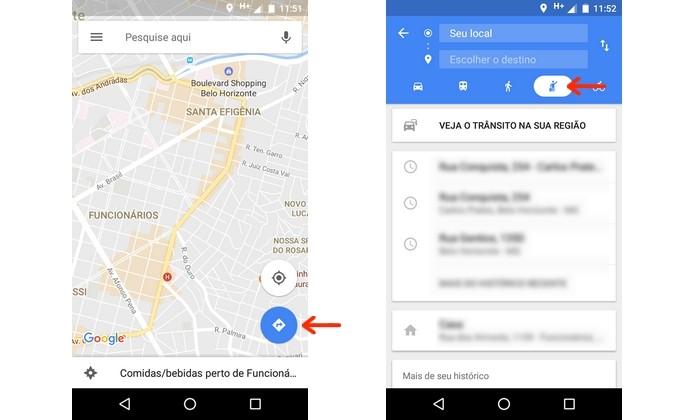 Caminho do Google Maps para aba de serviços de táxi (Foto: Reprodução/Raquel Freire)
