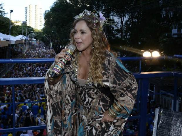 Daniela Mercury canta no circuito Osmar (Campo Grande) (Foto: Sérgio Pedreira/Ag. Haack)