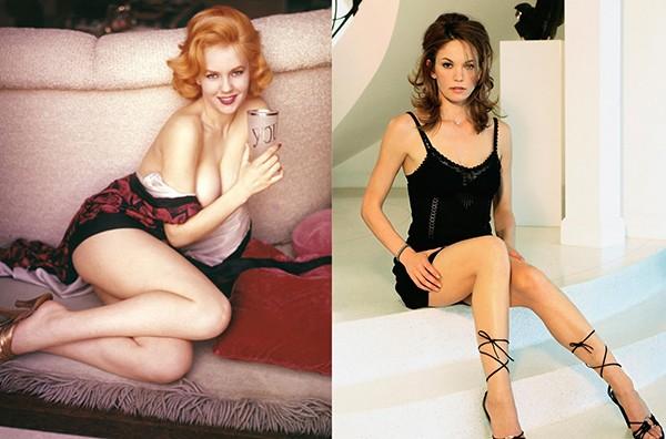 Colleen Farrington em ensaio para a Playboy e Diane Lane em foto promocional (Foto: Reprodução)