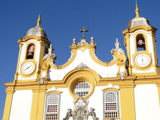 Matriz de Santo Antônio guarda a riqueza do barroco e é um dos símbolos de Tiradentes (Foto: Raquel Freitas/G1)