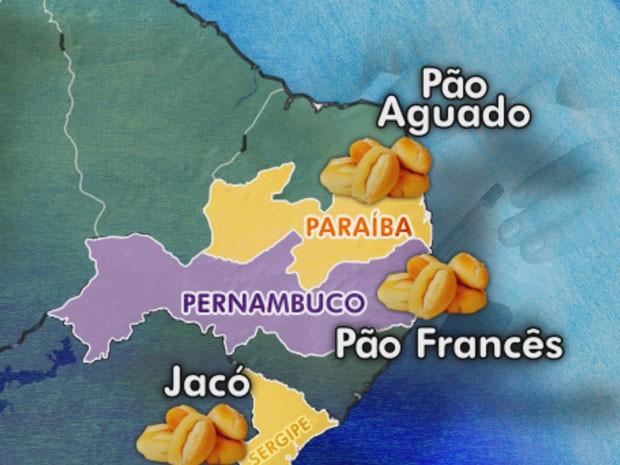 O pão francês é chamado de outras formas dependendo do estado (Foto: Reprodução / TV Globo)