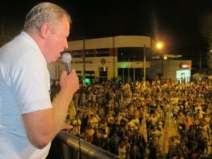 Eduardo Fouquet (PMDB) é eleito prefeito de Eldorado, SP (Foto: Mariane Rossi/G1)