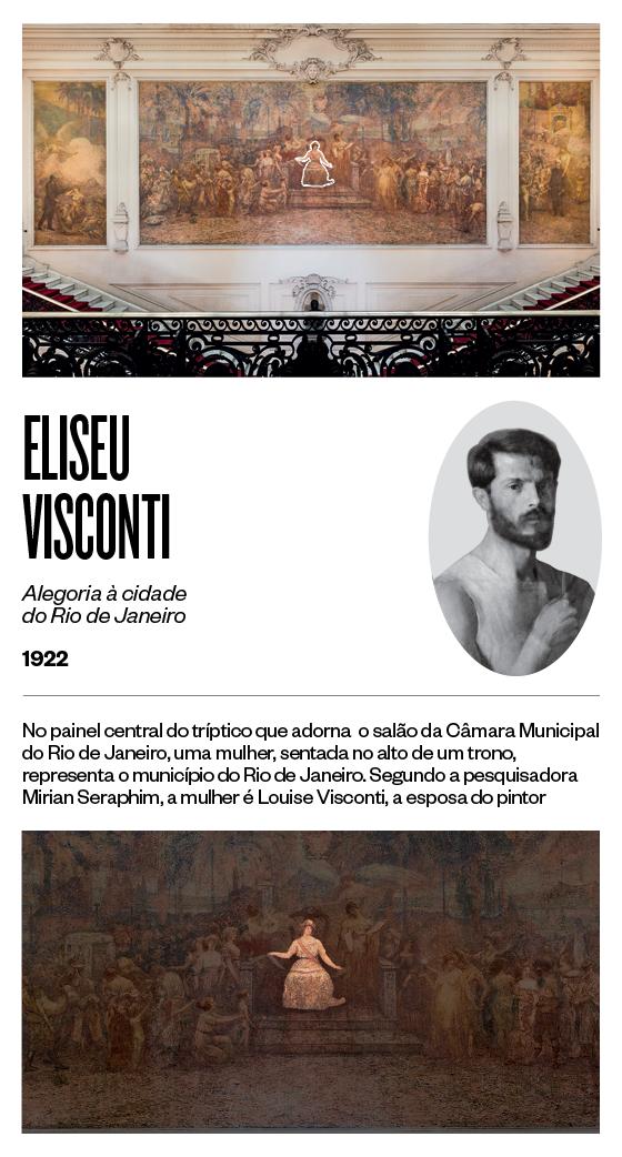 """""""Alegoria à cidade do Rio de Janeiro"""" - 1922 - Eliseu Visconti (Foto: Stefano Martini/ÉPOCA e reprodução)"""