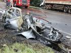Morre segunda vítima de acidente entre carro e caminhão no Paraná