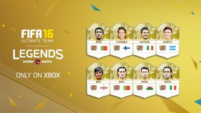 Fifa 16 ganha novos jogadores lendários no Ultimate Team (Foto: Divulgação/EA Sports) (Foto: Fifa 16 ganha novos jogadores lendários no Ultimate Team (Foto: Divulgação/EA Sports))