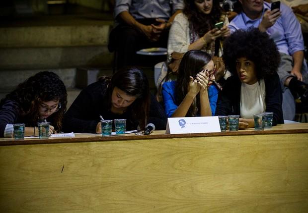 Grupo vencedor da 1ª olimpíada Constitucional de São Paulo: alunos da Escola Estadual Alberto Torres (Foto: Divulgação Constituição nas Escolas)