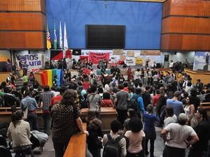Ocupação Câmara de Vereadores de Porto Alegre (Foto: Vicente Carcuchinski/Divulgação CMPA)
