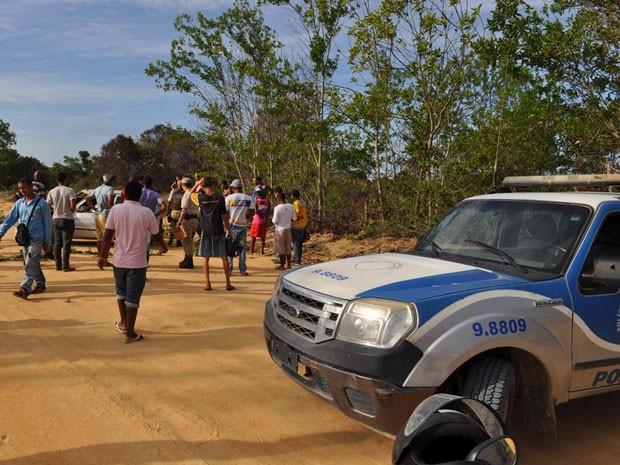 Acidente ocorreu em estrada de terra em Prado (Foto: Marcos Cunha/Itamaraju Notícias)