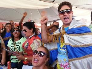 Apuração Carnaval Juiz de Fora Unidos do Ladeira (Foto: Nathalie Guimarães/G1)