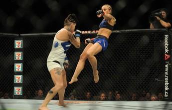"""Paige VanZant explica chute: """"Mostrei os golpes e tive a reação que queria"""""""