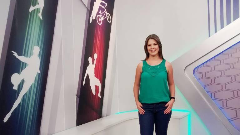 Tâmara Oliveira apresenta do GE Sergipe (Foto: Divulgação/TV Sergipe)