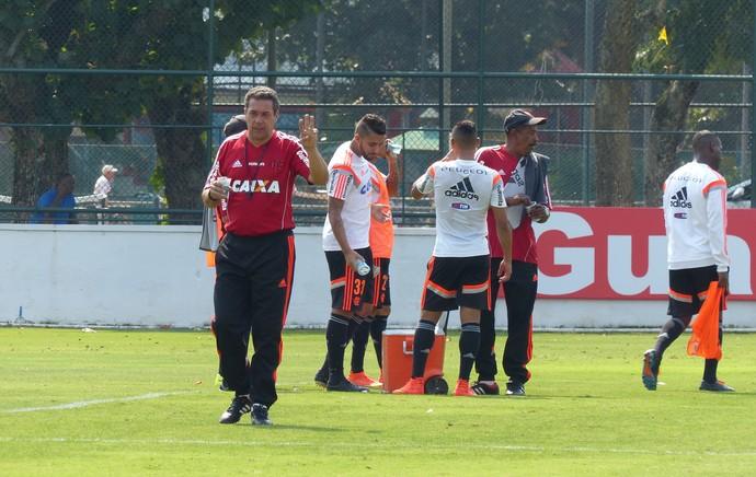Luxemburgo Flamengo treino Gávea (Foto: Cahê Mota)