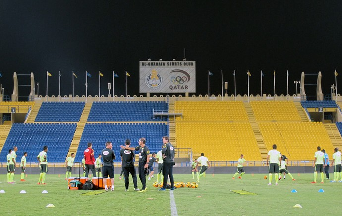 Brasil Sub-21 treinando no Quatar (Foto: Richard Souza)